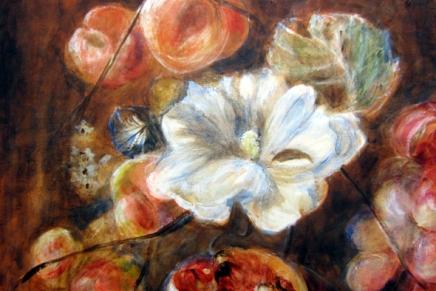 kukkamaalaus edistyy hitaasti