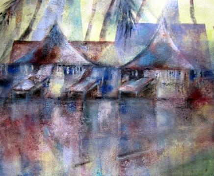 kookospalmumaalari koh samuilla
