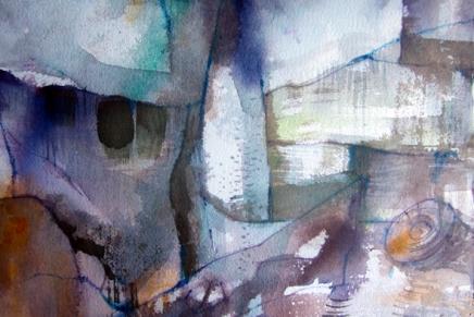 akvarelleja tuomarinkylän kartanonpihapiirissä