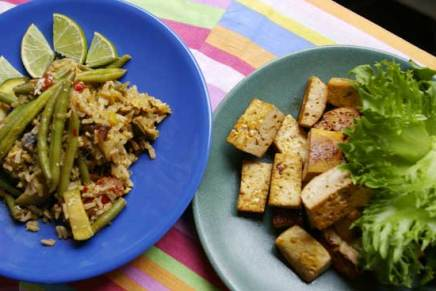 tofua ja paistettuariisiä