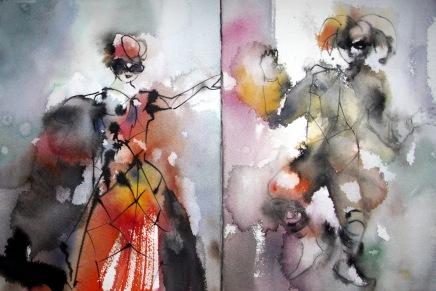 akvarellinaamiot