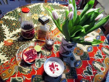 mascarbonea ja granaattiomenoita