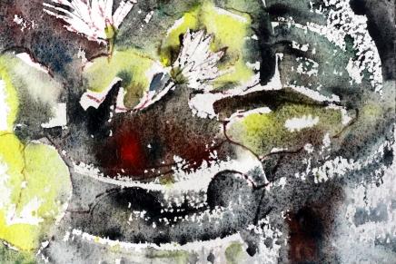 thaikukka-akvarelleja