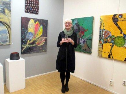 värirunoja -näyttelyn avajaistunnelmia