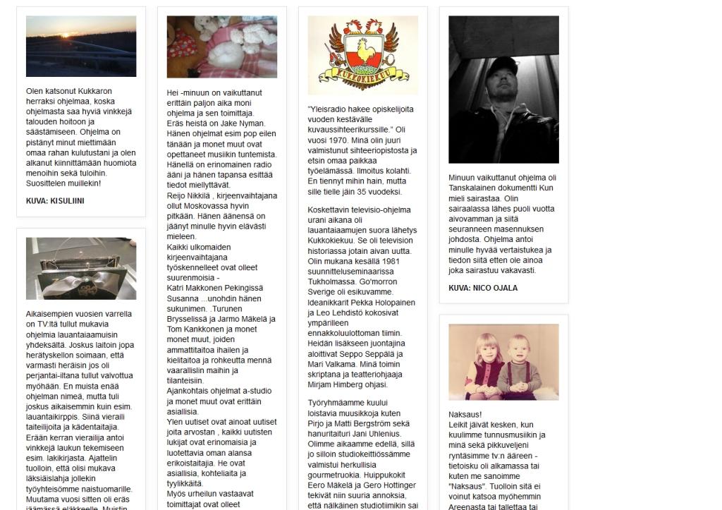 KUVA JA TEKSTI OVAT NYT YLEN SIVUILLA