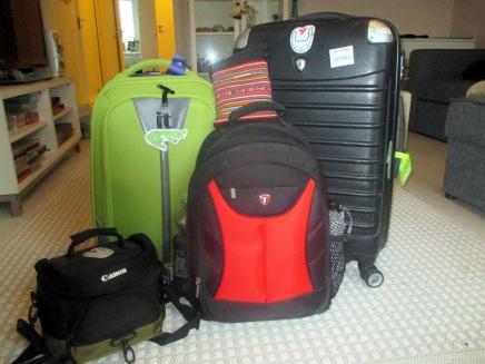 matkalaukut on pakattu