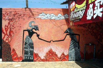 seinämaalauksia terengganun chinatownissa