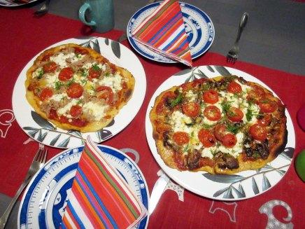 suppilovahvero- ja tonnikalapizzakotikonstein