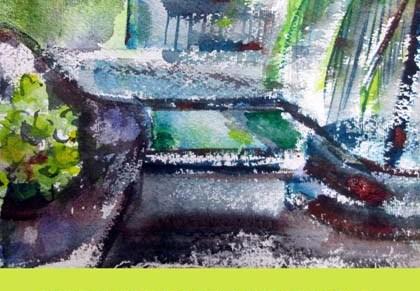 thaiakvarellit nähtävissä galleria paperihuoneellahämeenlinnassa