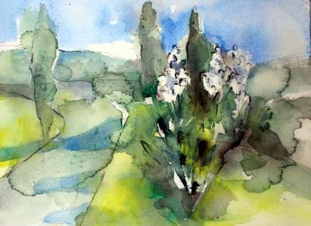 akvarelleja korfulla