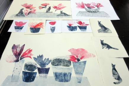 metalligrafiikka- ja carborundum kurssien katselu jakritiikki
